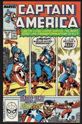 Revista Captain America #355 (Jul 1989, Marvel)