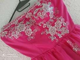 vestido de 15 rosado