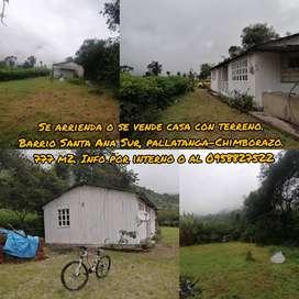 Casa y terreno en pallatanga-Chimborazo