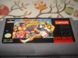 Juego Steet Fighter 2 Nintendo Snes Original Excelente