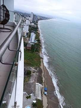 Hermoso departamento frente al mar, con una increíble vista. Hasta 7 personas. PRECIO TEMPORADA BAJA