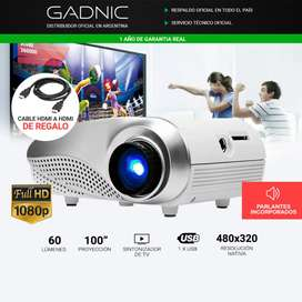 Mini proyector Gadnic 60lms