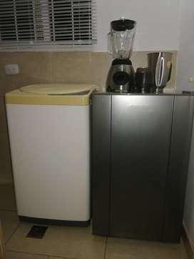 Nevera, lavadora, licuadora, minicomponente Kit completo apartamento pequeño