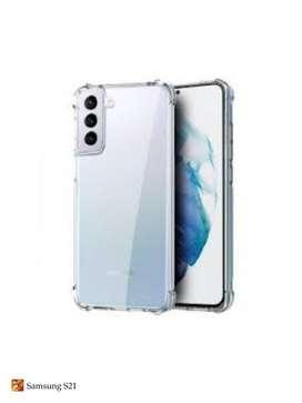 Estuche Forro Funda Case Esquinas Reforzadas Camara Cubierta Strong clear para Samsung S21