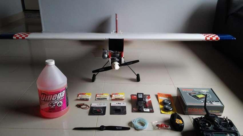 Aeromodelo trainer avion rc ala alta 0