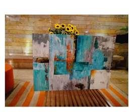 Cuadros Abstractos Lienzo Sobre Acrilico Decoración