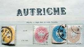 Sellos postales de Austria 1863 – 1865