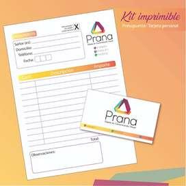 talonario + tarjeta personal