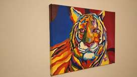 Cuadro, Pintura de tigre