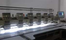 Bordadora Computarizada 6 Cabezales 850 Rpm de mesa plana REMATO
