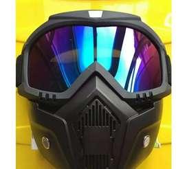 Mascara de protección anti polución con gafas sistema modular desmontable