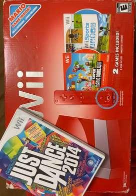 Nintendo Wii edición Mario Bross (usado) + juego Just Dance 2014 (usado)