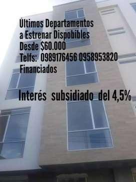 EN VENTA ÚLTIMOS DEPARTAMENTOS A ESTRENAR PARA EL PLAN DE INTERÉS 4,5%