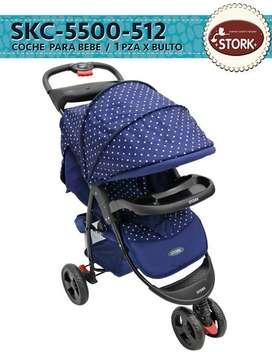 Coche Bebe Paseador Viajero Grande Niño Niña Plegable Lujoso