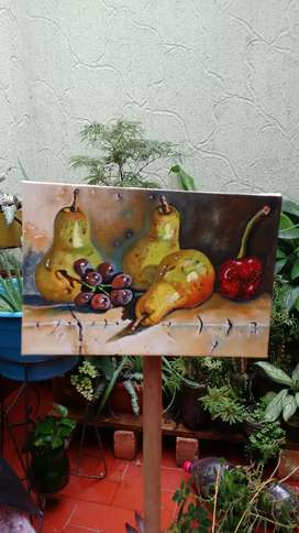 Pintura bodegón al óleo