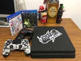PlayStation 4 slim (PS4) 500 gb + 1 control extra + 2 juegos