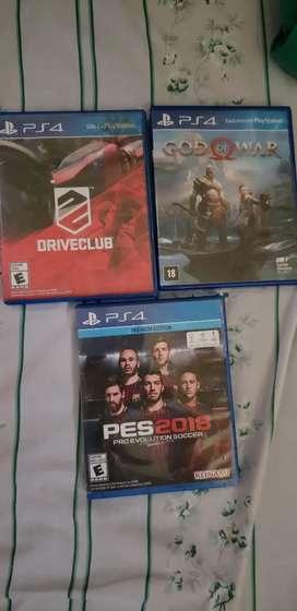 3 Juegos de play 4
