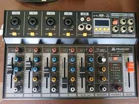 Consola de 6 Canales USB Efectos Rec-Italy Audio QXT-P6