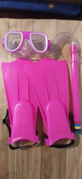 Set snorkeling femenino infantil