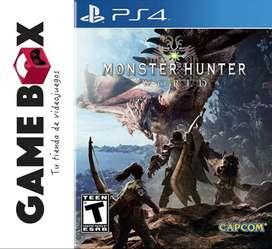 Monster Hunter World Ps4 - Juego en Disco Fisico - Nuevo De Paquete