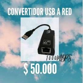 CONVERTIDOR USB A RED 3.0