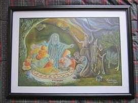 Juego Pinturas Al Oleo (2x, Autoría Propia/enmarcada)