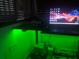 Mesa con iluminación led