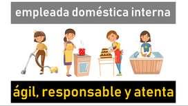 Empleada doméstica INTERNA