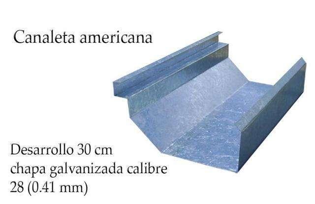 Canaleta Americana Rectangular X 2 Mts 0
