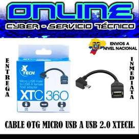 CABLE OTG MICRO USB A USB 2.0 XTECH
