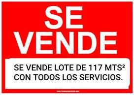 Vendo Lote de 117 MTS² En Cajicá Capellanía Con todos los servicios!!!