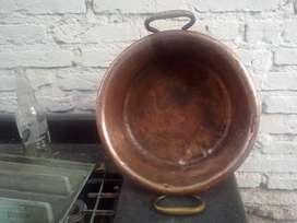 Paila de cobre diametro 110 cm profundidad 15 cm hacha en España