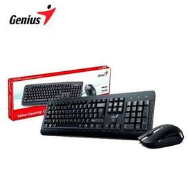 TECLADO GENIUS + MOUSE KM-160 USB SP BLACK