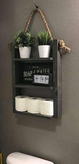 Repisa decorativa para baño