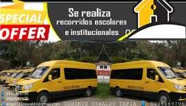 Servicio de TRANSPORTE  INSTITUCIONAL