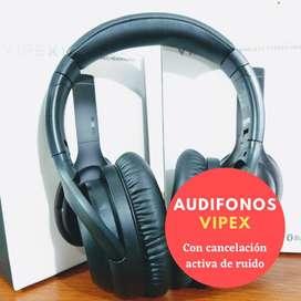 Audifonos bluetooth VIPEX con cancelación activa de ruido (Última unidad)