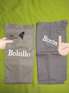 Pantalones en dril y lino talla 28