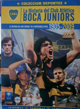 """Reliquia 4 DVDS """"La historia de BOCA JUNIORS"""""""