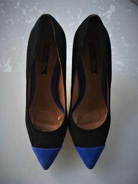 Stilettos de gamuza Zara