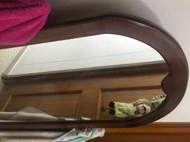 Espejo perchero elegante en madera