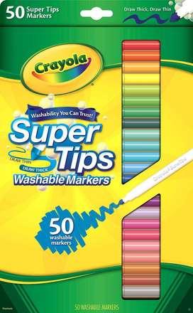 Crayola Marcador Lavable Super Tips 50 Unidades Originales