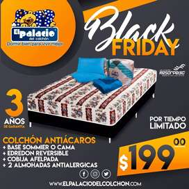 COLCHON 2 PLAZAS  !!*PROMOCIONES*!! COLCHONES + BASES + REGALOS + ENTREGA GRATIS !! LLAMA El Palacio Del Colchon !!!