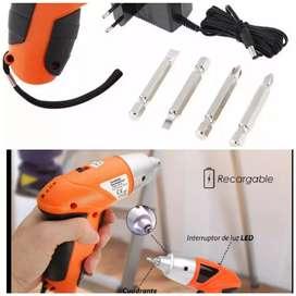 Destornillador atornillador eléctrico y recargable