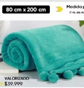 Pie de cama coral