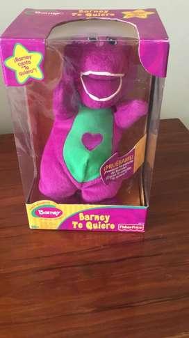 Juguetes Fisher Price -Barney musical como nuevo.