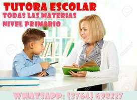Tutora NIVEL PRIMARIO (3764) 698227