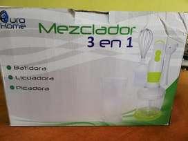 MEZCLADOR 3 EN 1 Licuadora, Batidora, Picadora