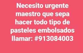 Busco Maestro pastelero urgente !!!
