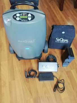 Concentrador portatil de oxigeno SEQUAL Eclipse  3, VENDO O PERMUTO.