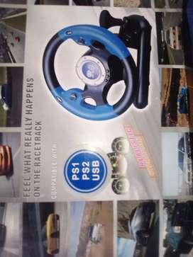 Vendo volante y pedales para PS1 PS2  y conexión usb